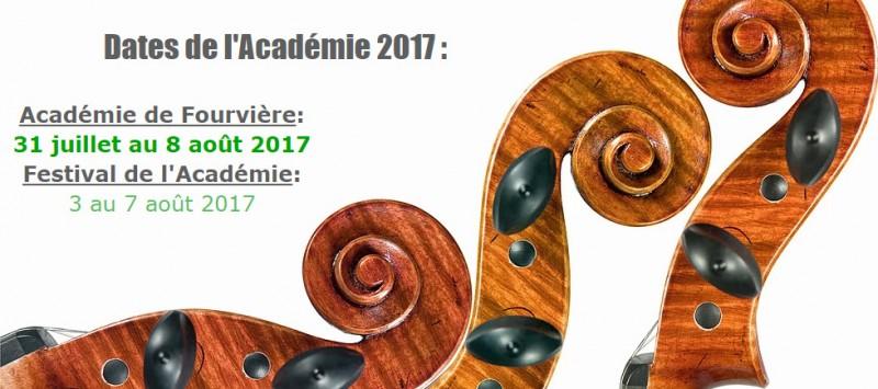 Académie de Fourvière : Festival 2017