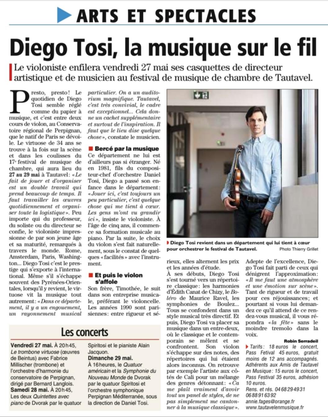 Diego Tosi, la musique sur le fil
